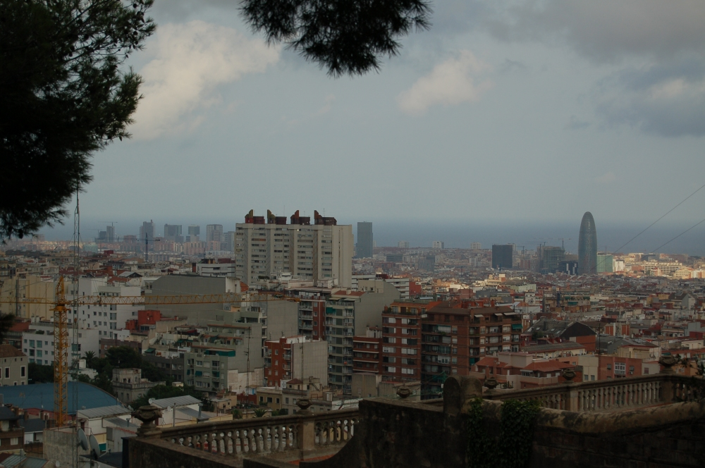 view of the city from Park Guell